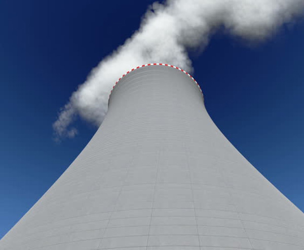 Nuclear-power-plant-chimney-1
